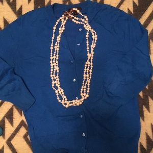 "Jcrew three 30 in strand of multi size ""pearls"""